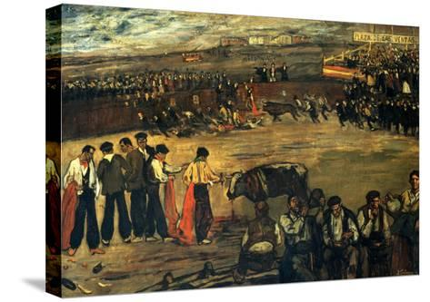 Plaza De Las Ventas-Jose Gutierrez Solana-Stretched Canvas Print