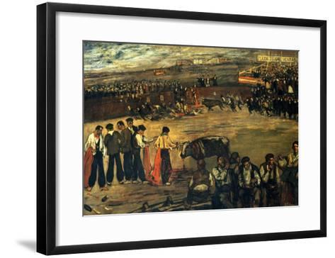 Plaza De Las Ventas-Jose Gutierrez Solana-Framed Art Print