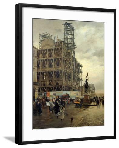 Place Des Pyramides-Giuseppe De Nittis-Framed Art Print