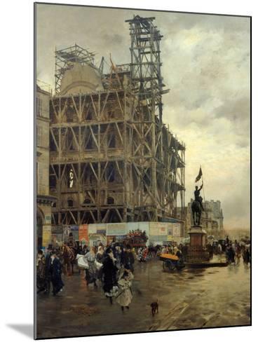 Place Des Pyramides-Giuseppe De Nittis-Mounted Giclee Print