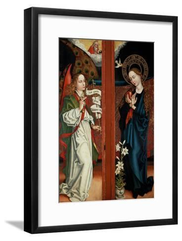 Annunciation-Martin Schongauer-Framed Art Print