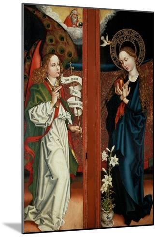 Annunciation-Martin Schongauer-Mounted Giclee Print