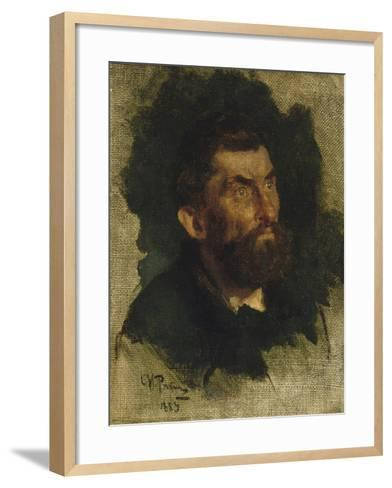 Man's Head, Study for Ivan the Terrible-Ilya Efimovich Repin-Framed Art Print