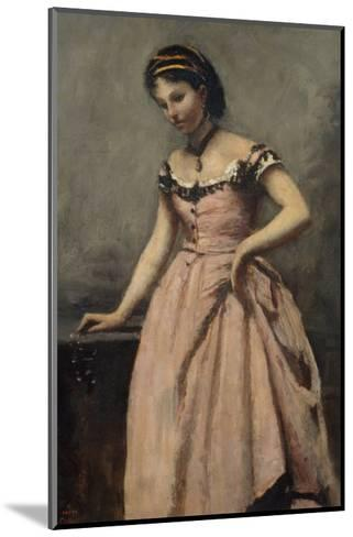 Girl in Pink Dress-Jean-Baptiste-Camille Corot-Mounted Giclee Print