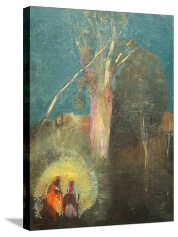 Flight into Egypt-Odilon Redon-Stretched Canvas Print