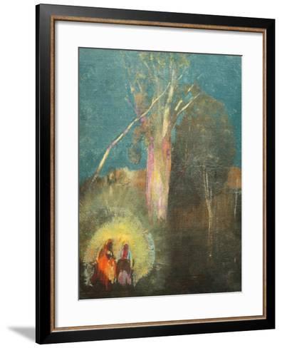 Flight into Egypt-Odilon Redon-Framed Art Print