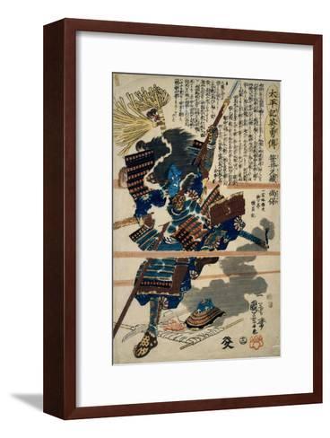 A Samurai-Kuniyoshi Utagawa-Framed Art Print