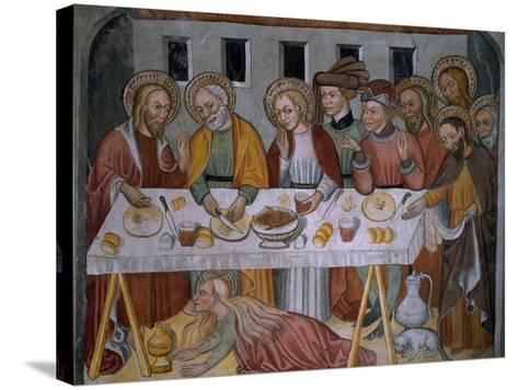 Scenes from the Life of Jesus Christ, Supper in Simon's House, 15th Century--Stretched Canvas Print
