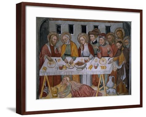 Scenes from the Life of Jesus Christ, Supper in Simon's House, 15th Century--Framed Art Print