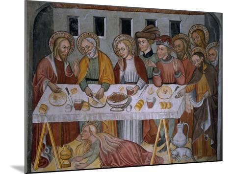 Scenes from the Life of Jesus Christ, Supper in Simon's House, 15th Century--Mounted Giclee Print