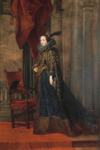 Portrait of Paolina Adorno Brignole Sale-Sir Anthony Van Dyck-Stretched Canvas Print