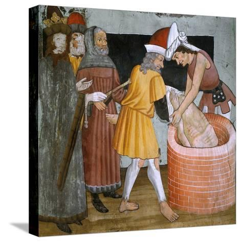 Scenes from the Life of St. Sebastian, the Saint Thrown to the Cloaca Maxima--Stretched Canvas Print