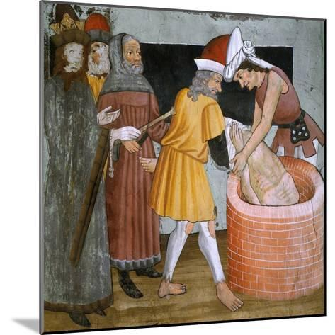 Scenes from the Life of St. Sebastian, the Saint Thrown to the Cloaca Maxima--Mounted Giclee Print