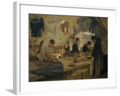 The Ironers at Trouville, 1888-Louis-joseph Anthonissen-Framed Art Print