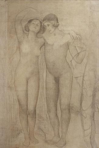 The Lovers-Giovanni Segantini-Stretched Canvas Print