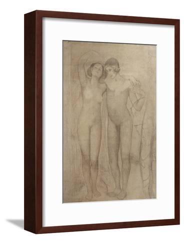 The Lovers-Giovanni Segantini-Framed Art Print