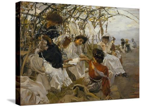 The Reading-Ettore Tito-Stretched Canvas Print