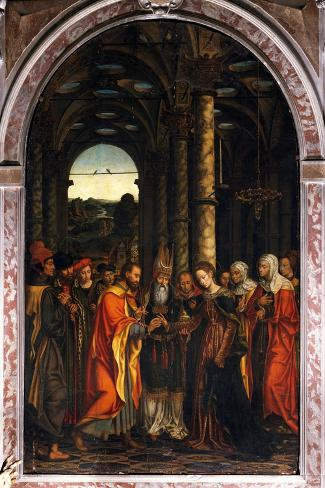 Marriage of the Virgin or Altarpiece Dondo--Stretched Canvas Print