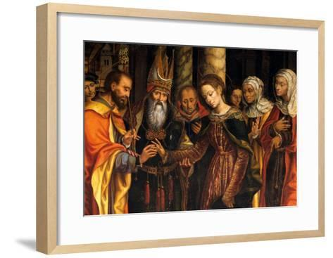 Marriage of the Virgin or Altarpiece Dondo--Framed Art Print