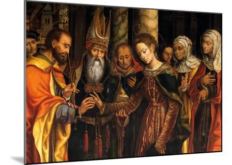 Marriage of the Virgin or Altarpiece Dondo--Mounted Giclee Print