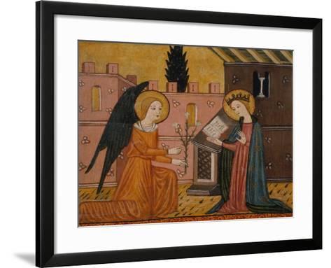 Annunciation, from Bellver De Cerdanya, 14th Century--Framed Art Print