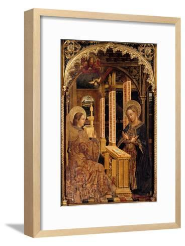 Polyptych with Annunciation and Saints-Mazone Giovanni-Framed Art Print