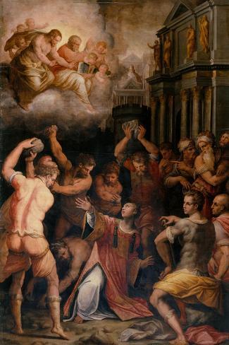 Stoning of St. Stephen, 1571-Giorgio Vasari-Stretched Canvas Print