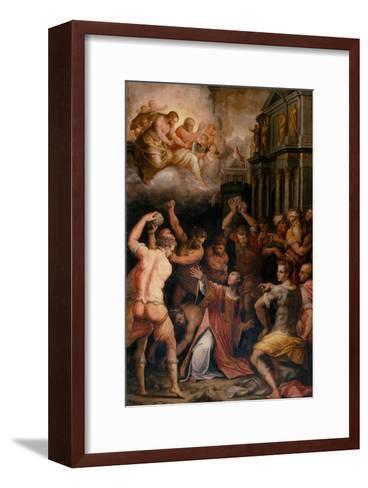 Stoning of St. Stephen, 1571-Giorgio Vasari-Framed Art Print