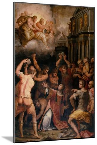 Stoning of St. Stephen, 1571-Giorgio Vasari-Mounted Giclee Print