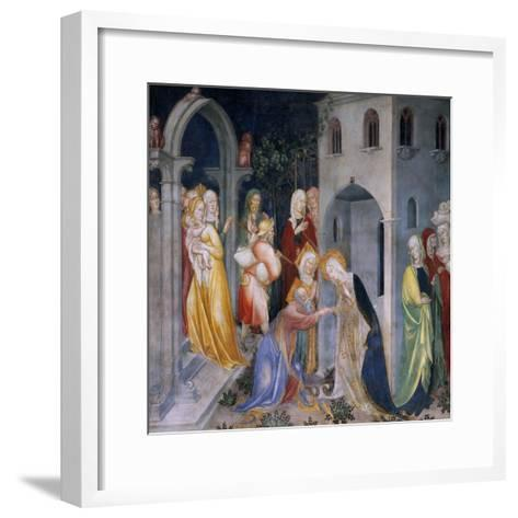 Scenes from the Life of Saint John the Baptist, Mary Taking Leave of Elizabeth and Zacharias-Lorenzo & Jacopo Salimbeni-Framed Art Print