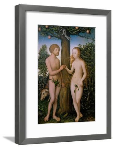 Adam and Eve, 1530-Lucas Cranach the Elder-Framed Art Print