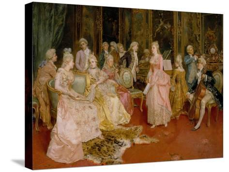 Concert at the Time of Mozart, 1853-Ettore Simonetti-Stretched Canvas Print