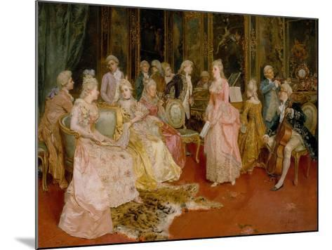 Concert at the Time of Mozart, 1853-Ettore Simonetti-Mounted Giclee Print