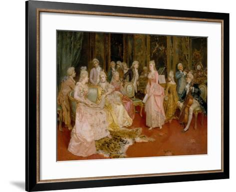 Concert at the Time of Mozart, 1853-Ettore Simonetti-Framed Art Print
