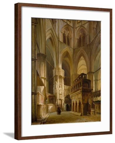 Interior of the Abbey of Westminster, 1853-Giovanni And Bertini, Giuseppe Brocca-Framed Art Print