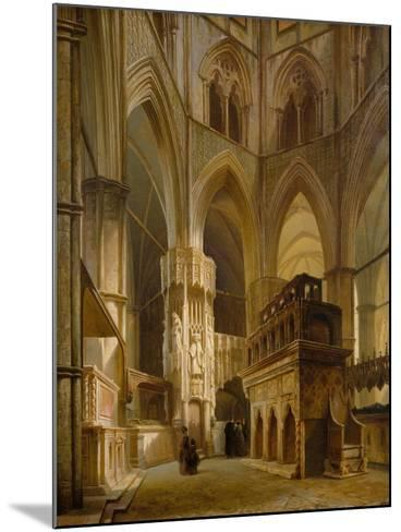 Interior of the Abbey of Westminster, 1853-Giovanni And Bertini, Giuseppe Brocca-Mounted Giclee Print