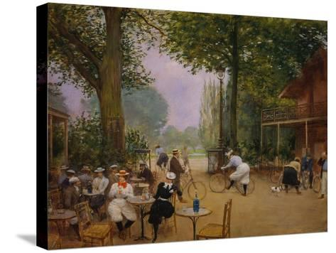 The Chalet of the Bicycle at Bois De Boulogne-Jean B?raud-Stretched Canvas Print