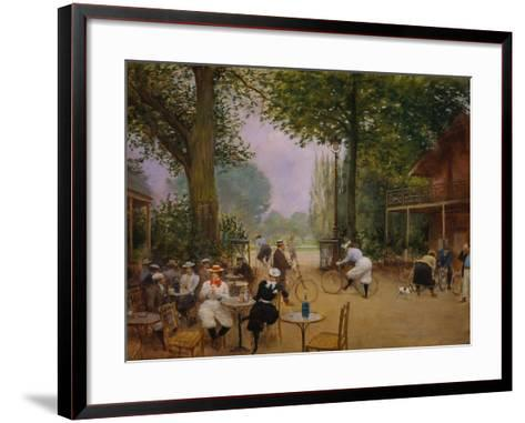 The Chalet of the Bicycle at Bois De Boulogne-Jean B?raud-Framed Art Print