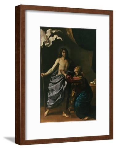 Christ Risen Appears to His Mother, 1629-Guercino (Giovanni Francesco Barbieri)-Framed Art Print