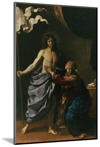 Christ Risen Appears to His Mother, 1629-Guercino (Giovanni Francesco Barbieri)-Mounted Giclee Print