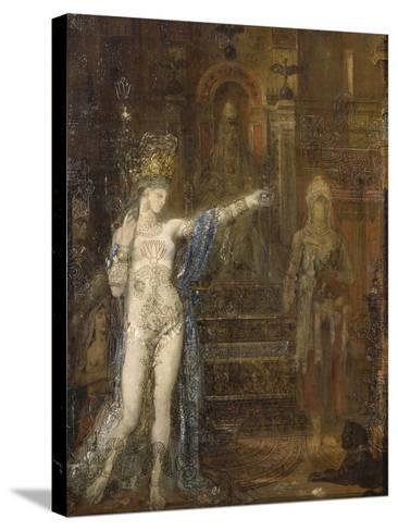 """Salomé dansant dite """"Salomé tatouée""""-Gustave Moreau-Stretched Canvas Print"""