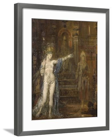 """Salomé dansant dite """"Salomé tatouée""""-Gustave Moreau-Framed Art Print"""