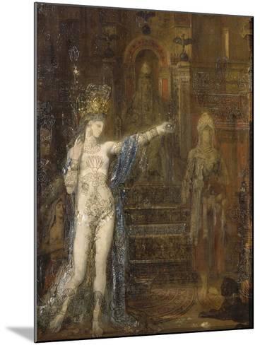 """Salomé dansant dite """"Salomé tatouée""""-Gustave Moreau-Mounted Giclee Print"""