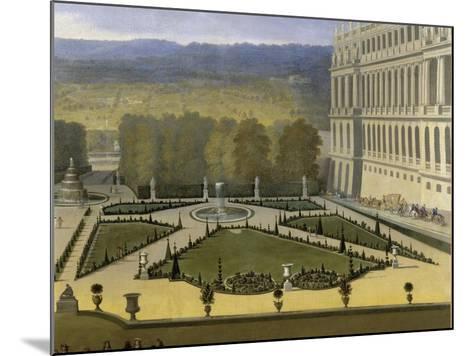 Promenade de Louis XIV en vue du Parterre du Nord dans les jardins de Versailles vers 1688-Etienne Allegrain-Mounted Giclee Print