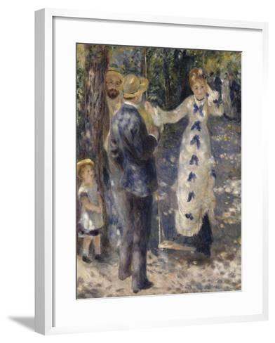 La balançoire-Pierre-Auguste Renoir-Framed Art Print