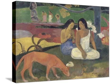 Arearea (Joyeusetés)-Paul Gauguin-Stretched Canvas Print