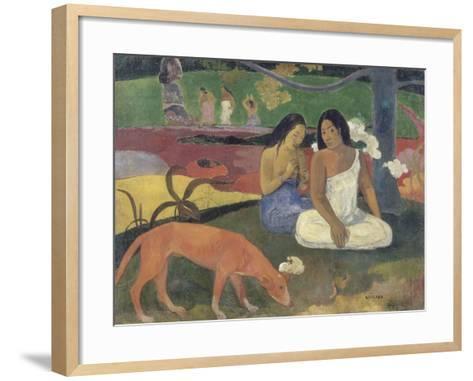 Arearea (Joyeusetés)-Paul Gauguin-Framed Art Print