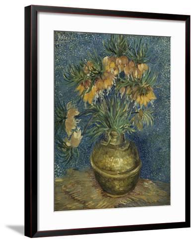 Fritillaires couronne impériale dans un vase de cuivre-Vincent van Gogh-Framed Art Print