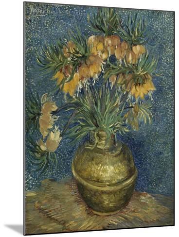 Fritillaires couronne impériale dans un vase de cuivre-Vincent van Gogh-Mounted Giclee Print
