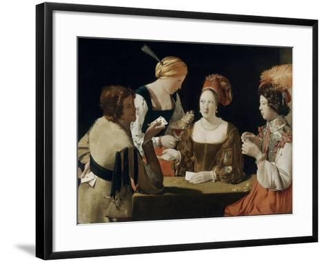 Le Tricheur à l'as de carreau-Georges de La Tour-Framed Art Print
